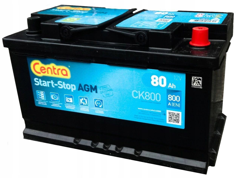 Start-Stop AGM 80Ah 800A